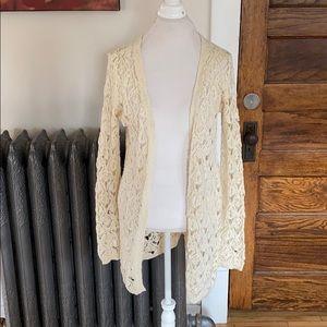 Ivory Open Lace Cardigan